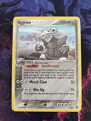 Aggron 1/108 - Holo Pokemon Card - EX Power Keepers - Played