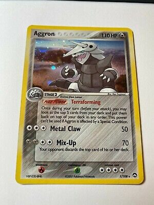 Aggron 1/108 Holo Pokemon Card Power Keepers