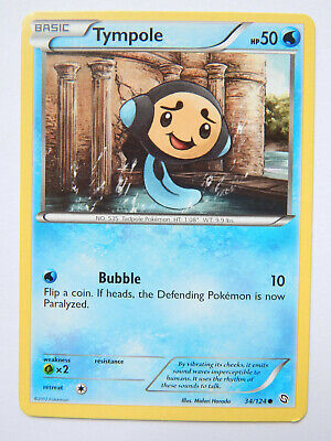 Tympole 34/124 (NM, Pokemon Card, Dragons Exalted, 2012, Water, Common)