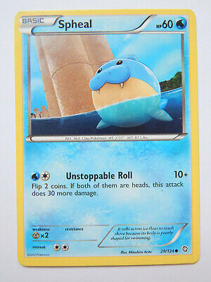 Spheal 29/124 (LP, Pokemon Card, Dragons Exalted, 2012, Water, Common)