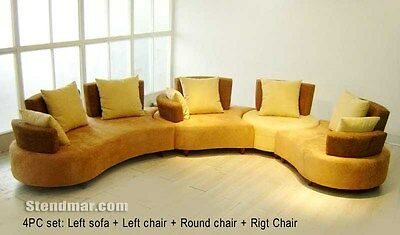 4pc Function & Adaptable Fabric Sectional Sofa S555-f