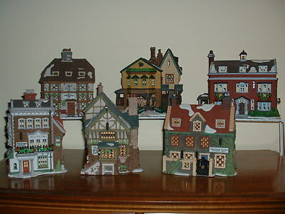 Dept 56 Dickens Village Series S/6 Buildings From 1992 To 1997 New Never Display
