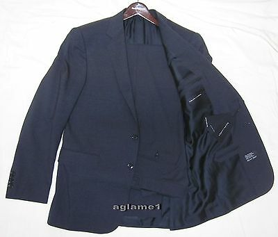 nwt polo ralph lauren black label italy made anthony suit 42 r 42r charcoal gray