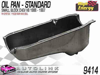 Oil Pan Standard Suit Small Block Chev V8 (1986 - 1997) **1 Pce Rear Main Seal**