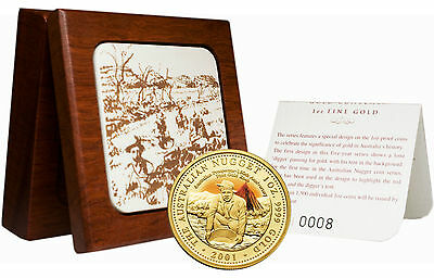 Australia 2001 150th Anniv. Of First Payable Gold Find Gold Proof W/box