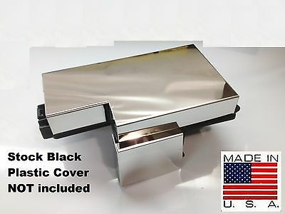 Fits Mustang 2015-2019 Stainless 4 Pc Fuse Box Cover Engine Chrome Dress Up
