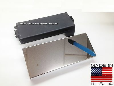 Fits Mustang 2010-2014 Polished Stainless Fuse Box Cover Engine Chrome