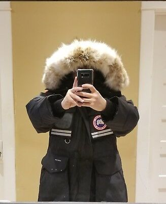 2019 Latest Grey Label Edition Black Canada Goose Snow Mantra Small Parka Jacket