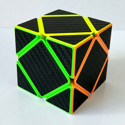 240pcs/lot Carbon Fiber Skewb Magic Cube Twist Puzzles For Training/contest Toy