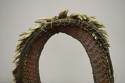 Papua New Guinea Porcelain Dog Teeth Woven Brides Price Currency Necklace