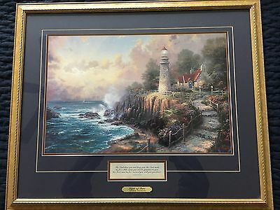 "Thomas Kincade "" Light Of Peace"" Framed Includes Certificate Of Authenicity"