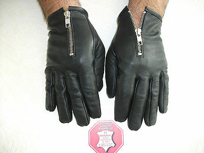 Перчатки MEN'S BLACK LEATHER GLOVES SIZE
