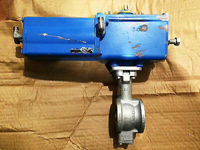 NELES METSO 1 INCH V-PORT SS ACTUATED VALVE