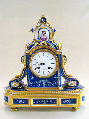 Very Fine French Porcelain Clock, Circa 1860 Lot 542