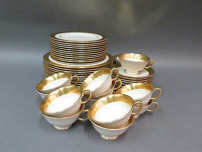 (60) Pc. Lenox Westchester Gold Encrusted China Lot - Dinner Salad Bread Plates