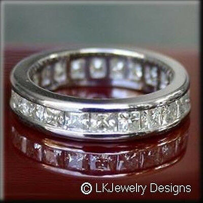 6.30 ct moissanite square forever one ghi eternity channel band ring