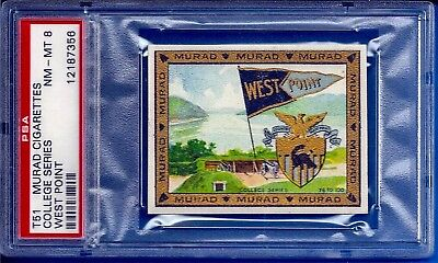 1909 T51 Murad Cigarettes College Series U.s. Military Academy West Point Psa 8