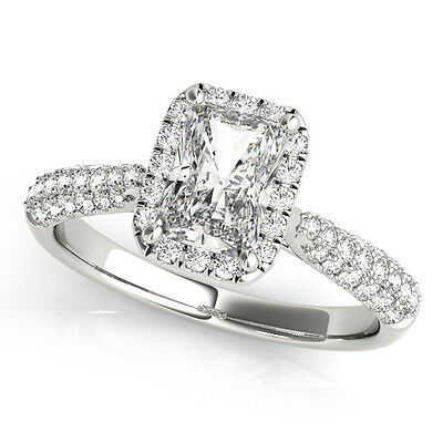4.20 forever one ghi moissanite emerald micro pave band engagement ring