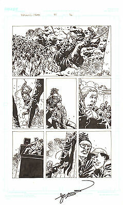 Walking Dead #81 P.16 - Zombie Herd - 2011 Art By Charlie Adlard