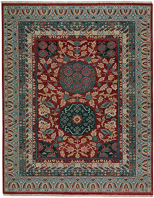 capel biltmore estate journey hand knotted wool area rug red teal 1111 525 new