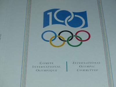 Jeux Olympiques Collection Philatelic Centennial C.i.o (ioc) Cplet5/5 1994 Fdc