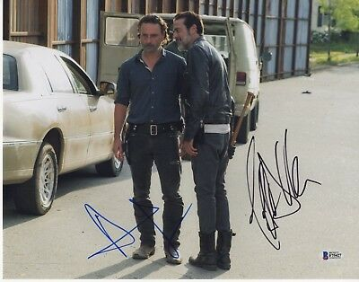 Andrew Lincoln Jeffrey Dean Morgan Signed The Walking Dead Photo 1