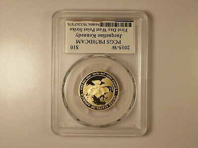 2015-w Jacqueline Kennedy First Day West Point Pcgs Pr70 Dcam Low Pop Tk