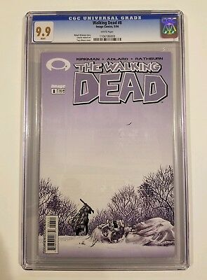 The Walking Dead 8 - Cgc 9.9 - High Grade Only 7 On Census - Rare (not 9.8)