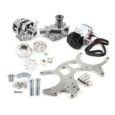 Fits Ford Sb 289 302 351w Billet Aluminum Serpentine Pulley & Components Kit