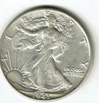 Uncirculated 1941-s Walking Liberty Half Dollar.  Scarce. See The Scans.