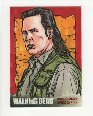 2016 Walking Dead Season 4 Sketches Brian Kong 1/1 Eugene Porter Josh Mcdermitt