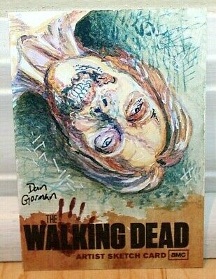 2011 Cryptozoic The Walking Dead Season 1 Artist Sketch Card 1/1!! Dan Gorman!!
