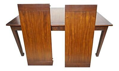Signed Henredon Carved Mahogany Dining Table 2 Leaves Asian Mid Century Vintage