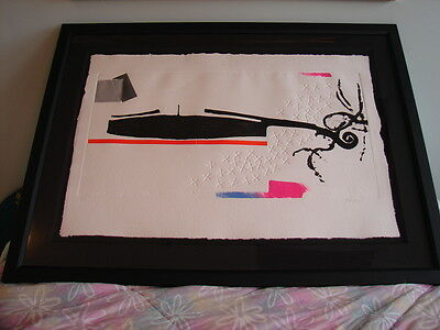 Paul Guiramand (french, 1926-2008)  - Large Modern Art Abstract Print -framed !