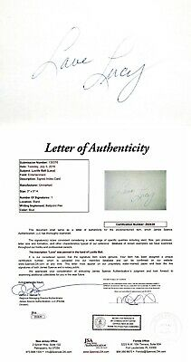 Lucille Ball Signed 3x5 Inch Index Card - Lucy Ball - I Love Lucy - Jsa Loa