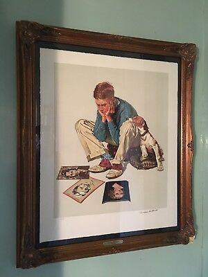 "Norman Rockwell ""starstruck"" Signed, Limited Edition, Lithograph"