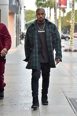 Faith Connexion Oversized Wool Plaid Shirt / Flannel Kanye West - Small