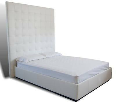 Modern- Contemporary King Size Genuine Leather Tufted Bed Xxt-choose Your Color!