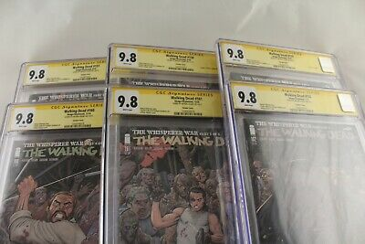 Walking Dead 157-162 Cgc 9.8 Signed Arthur Adams, Whisperer War