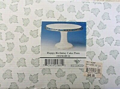 Charming Tails Happy Birthday Cake Stand Or Plate Figurine Display 89/11