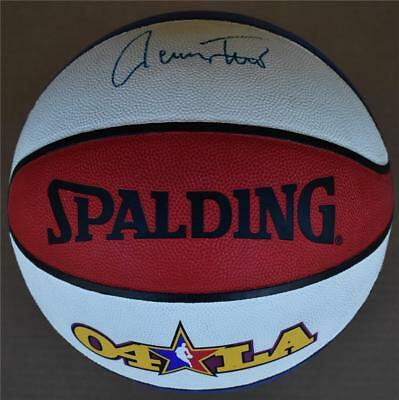 Magic Johnson Jerry West Elgin Baylor Signed All-star Basketball La Free Shippng