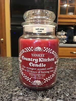 Rare Vintage Salt Mist Rose Yankee Candle Country Kitchen (80