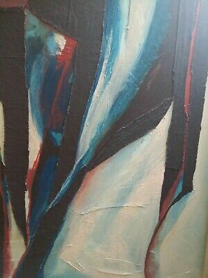 """Colorful Abstract Modernist Painting """"dancers"""" Colorado Artist Lucille Stein!"""
