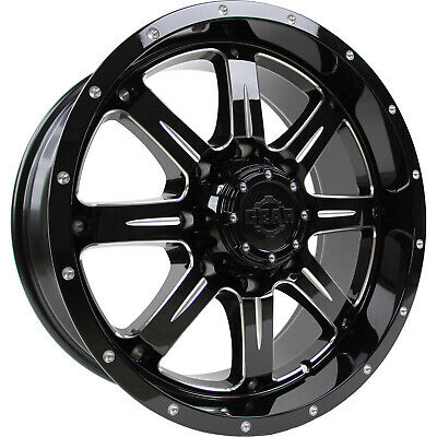 4- 20x12 Black Milled Big Block 6x135 & 6x5.5 -44 Rims Open Country Rt 35 Tires