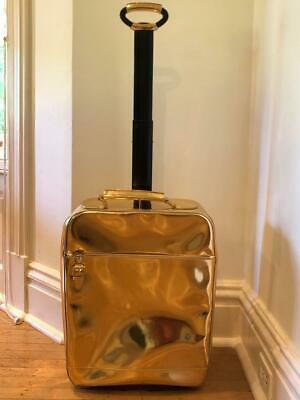 new ralph lauren rl collection gold specchio leather trolley case