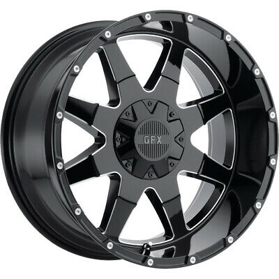 4- 20x10 Black Milled G-fx Tr12 6x135 & 6x5.5 -24 Rims Open Country Rt 37 Tires