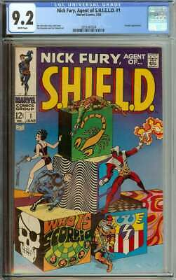 Nick Fury, Agent Of Shield #1 Cgc 9.2 White Pages