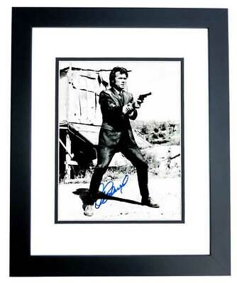 clint eastwood signed the good, the bad and the ugly 11x14 photo  black frame