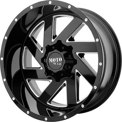 4- 20x10 Black Milled Mo988 6x135 & 6x5.5 -18 Rims Open Country Mt 35 Tires