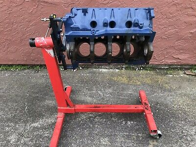 351 Windsor Ford Engine Block W/ Engine Stand